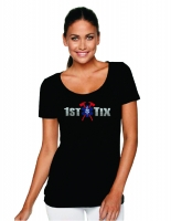 1st Tix Black Baby Doll Shirt