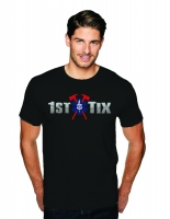 1st Tix Black Short Sleeve Shirt